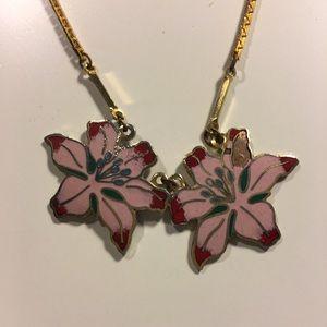 VINTAGE Korean Blossom Gold Necklace